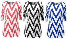Plus Size Chevron To
