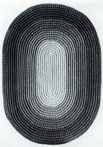 Oval Rug - looks like a large project, but with a large hook it should go fairly fast.