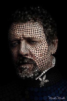Circleface Portrait - Russell Crowe by Markus Müller, via Behance