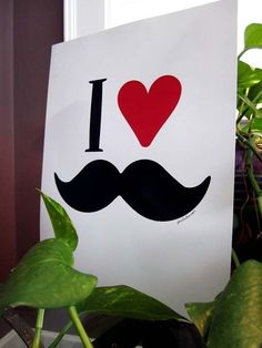 Perfect for my son's mustache party invitation.
