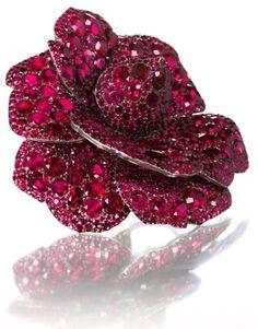 $1,500,000.00 Ruby Camellia brooch by JAR (2003) - estimate
