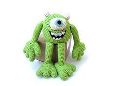 mike wazowski, monster pattern, knit, crochet patterns, monster university, disney crochet free patterns, crochet mike, crochet disney patterns free, amigurumi