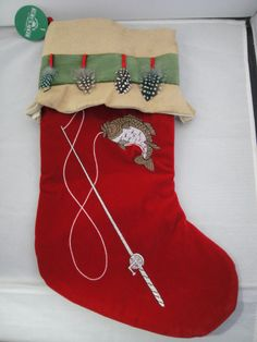 Christmas stockings on pinterest christmas stockings for Fish christmas stocking