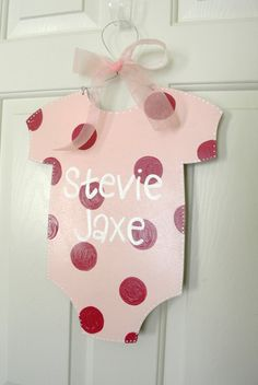 Baby Onesie Personalized Name Sign