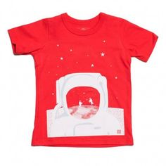 short sleeve tee (red astronaut)