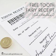 Tooth Fairy Receipt! So cute!
