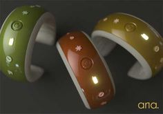 Aria: An alert system to help those who are deaf or hard-of hearing interact with their surroundings. Aria is a bracelet you wear on your wrist and can identify 6 different alert sounds; telephone, doorbell, smoke alarm, baby monitor, alarm clock, and emergency vehicle sirens. So innovative!