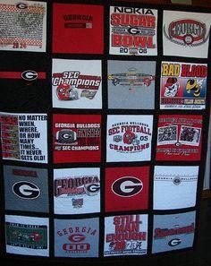 University of Georgia t-shirt quilt.