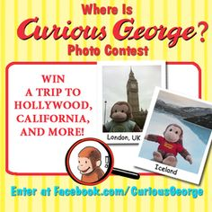 MACARONI FUN: WHERE IS CURIOUS GEORGE?  Enter the Where is Curious George? Photo Contest for the Chance to Win Prizes