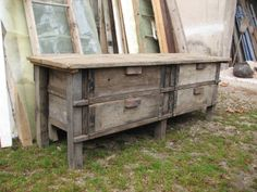 Meubles industriels on pinterest industrial furniture lockers and vintage - Meuble bois brut ikea ...