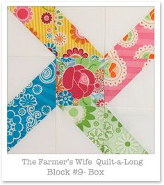 great pattern and colors; quilt block, would make a nice card