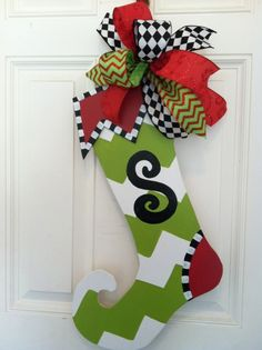 whimiscal christmas stockings | Whimsical Wooden Christmas Stocking - Ashley Nichole Designs Faison ...