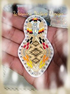 Winnie's Native Design on Facebook: Mirror Ctr w/acrylic sew on on top. Buyers choice post or drop..
