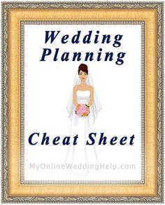 idea, futur, dream, cheat sheets, wedding planning cheat sheet, planning a wedding, marri, plan cheat, checklist
