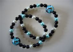"Queasy Beads Stylish Motion Sickness Nausea Relief Bracelets are a fashionable alternative to acupressure wristbands ~ Queasy Beads motion sickness bracelets in ""Evening Paradise"""