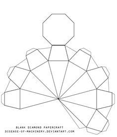 3D Paper Diamonds   Diamond Template Printable Blank diamond template ...