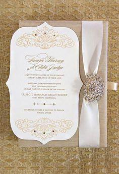 fancy wedding invitation