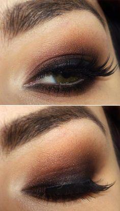black & brown smoky eyes