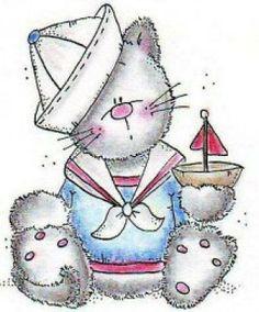 NAUTICAL KITTY CAT CLIP ART