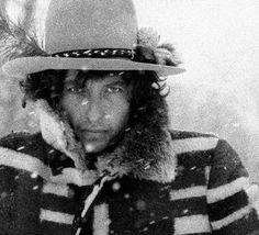 Dylan in Bangor, Maine. by Ken Regan