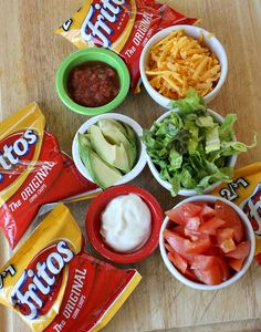 Walking tacos? 3 month supply?  Canned Chili. Fritos. Canned Salsa. Toss a bag of shredded cheese, and a freezer-ready batch of avocados in to the freezer.