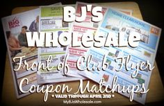 Front of Club Flyer Coupon Matchups (valid through 4/2/14)