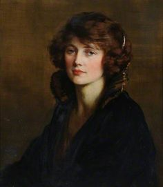"""""""Portrait of a Lady, 'Jenny'"""", 1923, by George Percy Jacomb-Hood (British, 1857-1929)."""