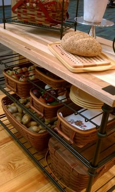 Need more space in your kitchen? Add a  Longaberger island