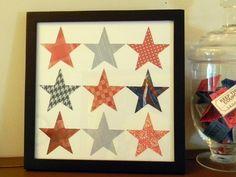Patriotic Scrap Stars #diy #patriotic