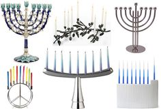 collection of different & creative menorah's
