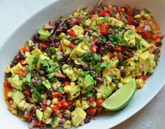 Black Bean, Corn & Avocado Salad with Chipotle Honey Vinaigrette