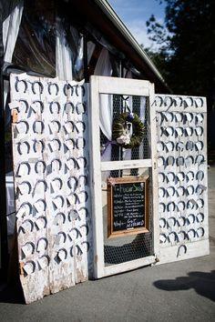 Horseshoe Wedding Place Cards