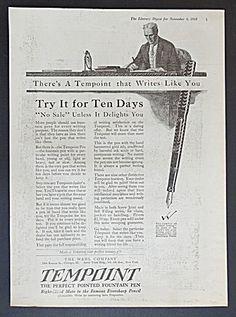 Tempoint Fountain Pen Ad