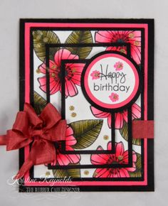 Stamping & Scrapping in California: TRC Triple Layer Birthday Card