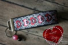 Love Bug (Valentines Day)  - Dub Lane Wristlet. $6.00, via Etsy.