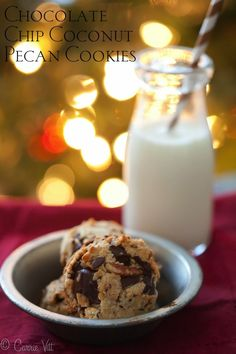 Chocolate Chip Coconut Pecan Cookies (Grain-Free, Paleo) - Deliciously Organic