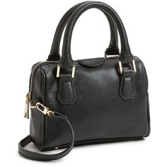 Topshop Faux Leather Crossbody Bag, Small found on Polyvore
