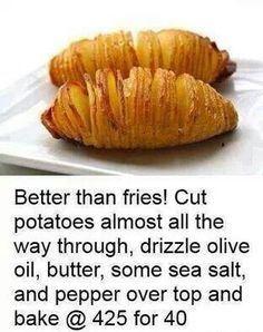 Better than fries... I bet this would be great with sweet potatoes too!