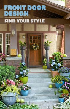 Give your front door a makeover! Take our fun quiz and get customized tips to boost your home's curb appeal. http://bhg.com/home-improvement/door/exterior/front-door-design/?socsrc=bhgpin022114frontdoorapp