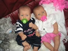 LIFE-LIKE REBORN TWIN BABY DOLLS.... MONTY AND LILY. BY AMANDA G... | eBay