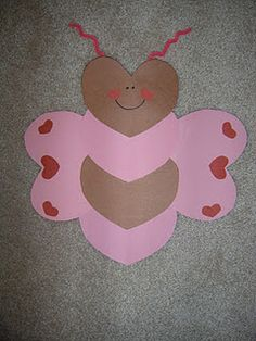 Valentine's Day bee made out of hearts...cute!