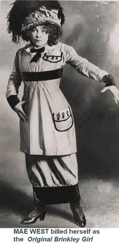 Mae West: around 1914.