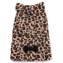 East Side Collection Polyester Posh Fleece Dog Jacket, Leopard, X-Large, 24-Inch