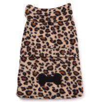East Side Collection Polyester Posh Fleece Dog Jacket, Leopard, X-Large, 24-Inch dog jacket, fleec dog, dog coat, leopard