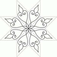 8 point star quilting