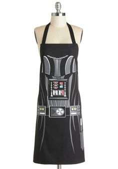 Darth Baker. Seriously. This apron is called Darth Baker. I can't even handle it! from ModCloth