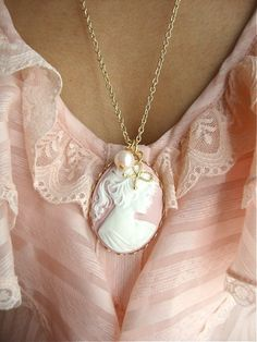 victorian pink cameo  Feminine and chic