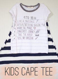 kids cape tee by Girl Like The Sea