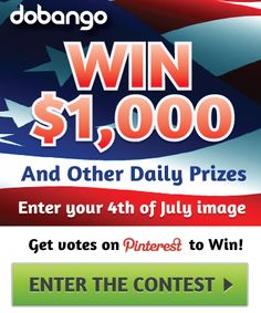 Our 4th of July Contest will be live soon! Follow us and repin to your friends for a chance to win 1K and other great prizes.  P.S. - This link will take you to our site for now, but we will have our contest landing page up very soon. :)