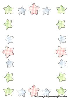 Borde con estrellas para imprimir Bordes para pagina
